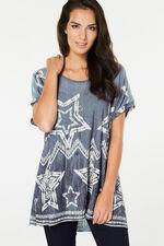 Izabel Oversized Slouchy Star Top