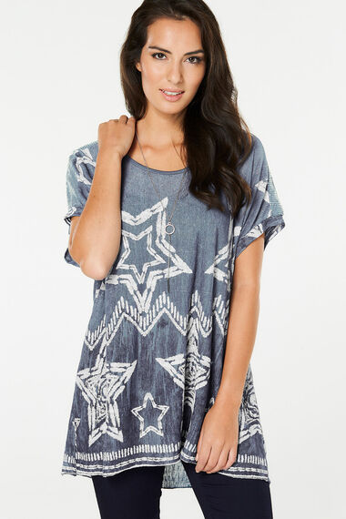 Izabel Oversized Slouchy Star Top