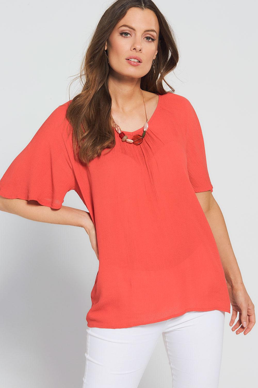 ladies butterfly design cold shoulder strap t-shirt top blouse shirt size 16