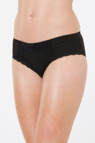 Lace Front Cotton Midi Brief