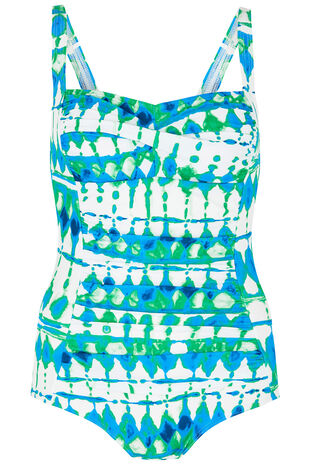 Tie Dye Ruched Front Swimsuit