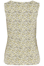 Animal Print Square Neck Vest