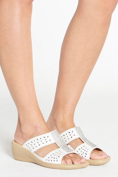 Cushion Walk Diamante Slip On Wedge Sandal