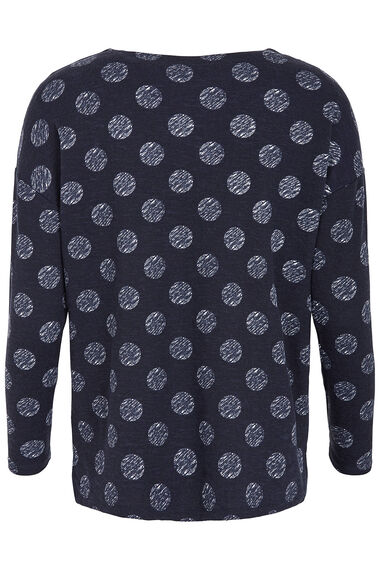 Textured Spot with Zip Front Sweat