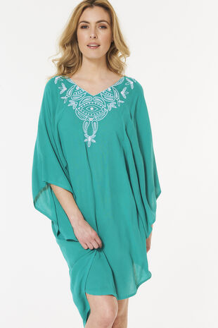 Embroidered Overhead Kaftan