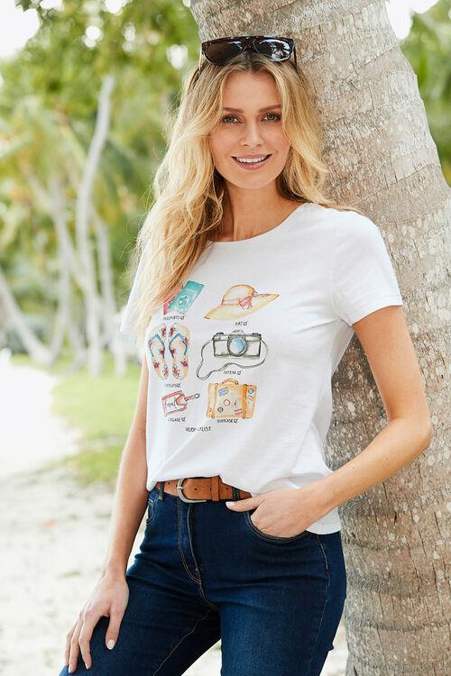 Holiday Checklist Print T-Shirt