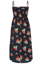Tropical Floral Print Multiway Beach Dress