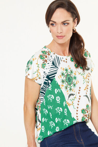 Patchwork Printed T-Shirt