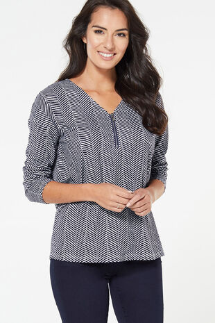 Soft Touch Check Print with Zip Sweat