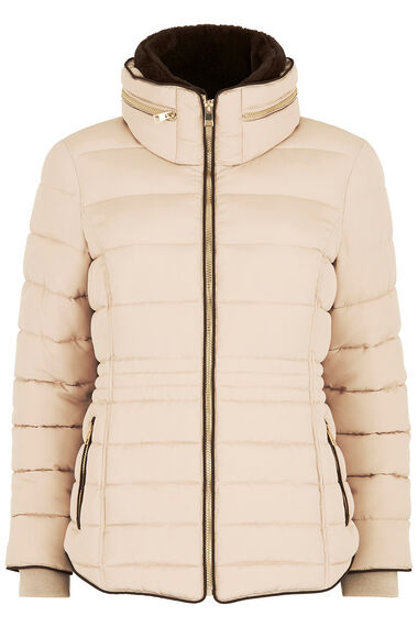Faux Fur Collar Padded Jacket