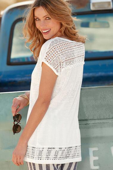 Lace Hem Detail T-Shirt