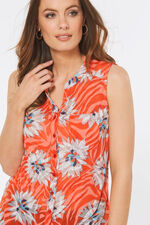 Floral Print Sleeveless Shirt