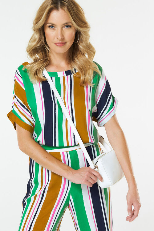 Woven Short Sleeve Top
