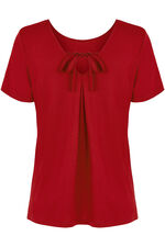 Plain Bow Back T-Shirt