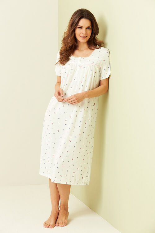 Ditsy Floral Print Nightdress