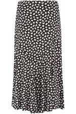 Floral Dash Print Maxi Skirt