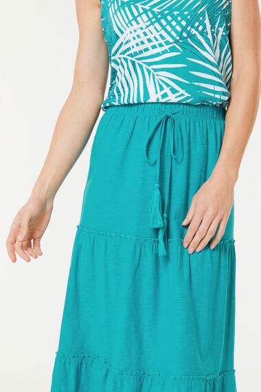 Plain Crinkle Jersey Skirt