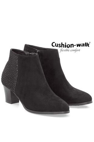 Cushion Walk Smart Heeled Boot with Stud Detail