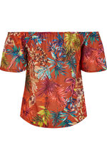 Tropical Print Gypsy Top