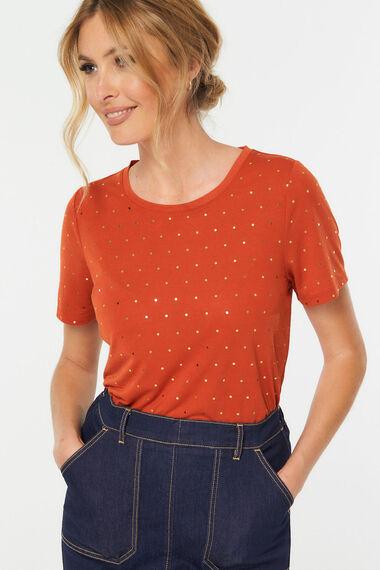 Foil Spot Print T-Shirt