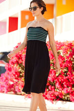 Multiway Beach Dress With Coloured Shirring