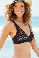 Embroidered Bikini Top