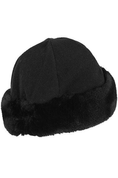 Faux Fur Trim Fleece Hat