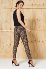 Nine To Six Animal Print Skinny Fit Ankle Jeans