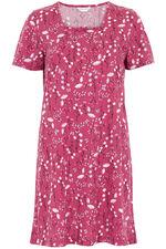 Floral Square Neck Nightshirt