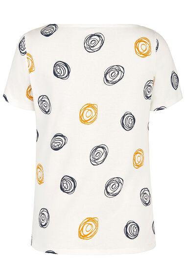 Boat Neck Scribble T-Shirt