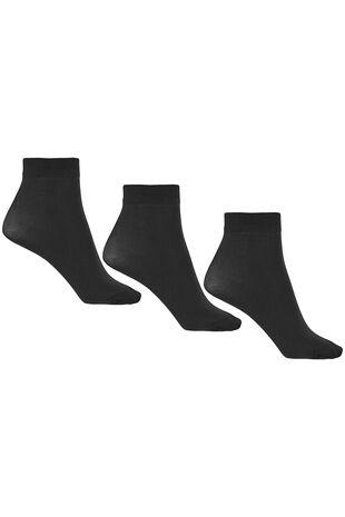 3 Pack 40 Denier Ankle Highs Socks
