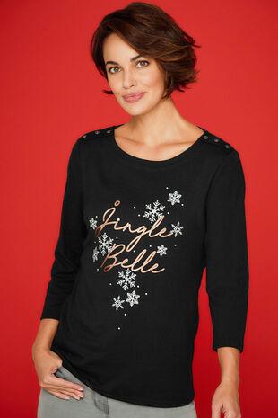 Jingle Belle' Slogan T-Shirt
