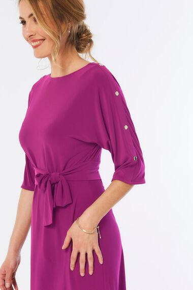 Stud Sleeve Tunic Dress