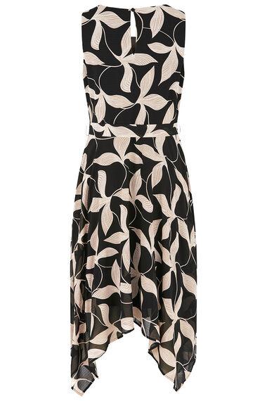 Leaf Print Hanky Hem Dress