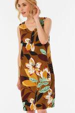 Sleeveless Bar Back Linen Blend Dress