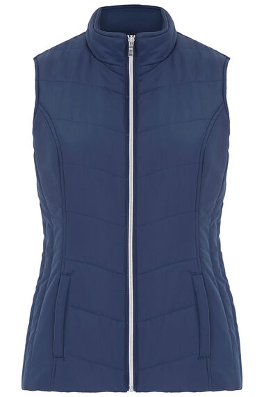 Gilet with Printed Lining