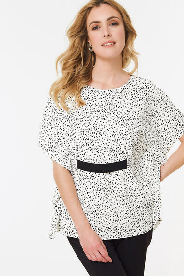 Animal Cape Top With Band