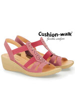 Cushion Walk Elasticated Sandal with Stud Detail
