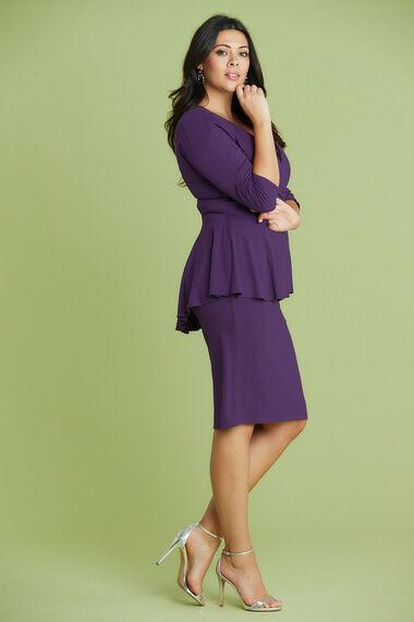 Scarlett & Jo Peplum Lace Detail Dress