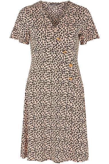 Printed Button Dress