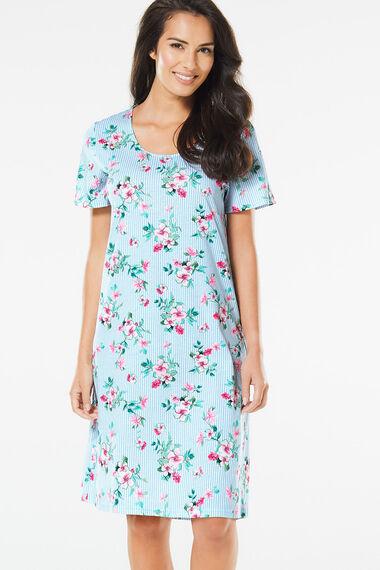 Stripe Floral Nightshirt