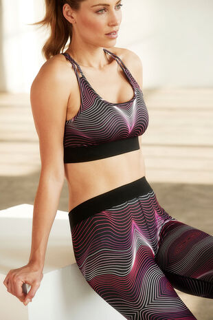 NVC Activewear Wave Pattern Sports Bra