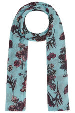 Floral Scarf with Lurex