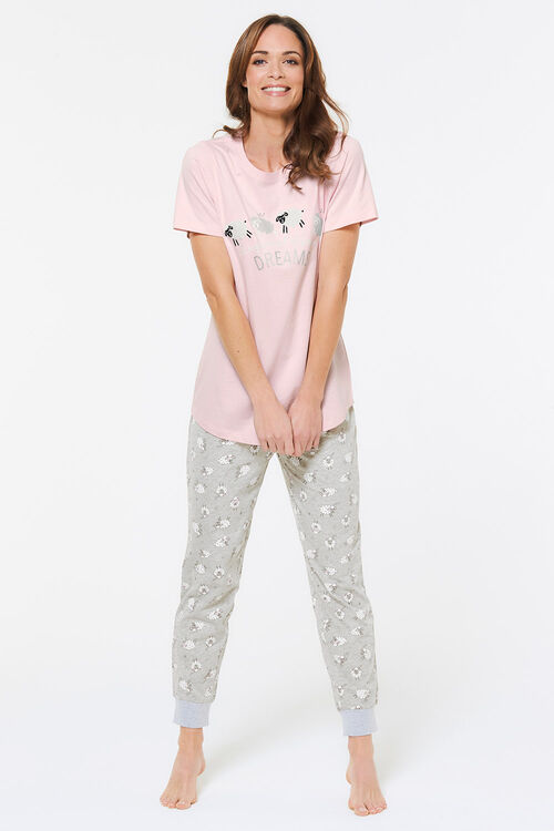 Short Sleeve Sheep Cuff Pyjama