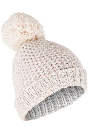 Honeycomb Soft Knitted Beanie with Pom Pom