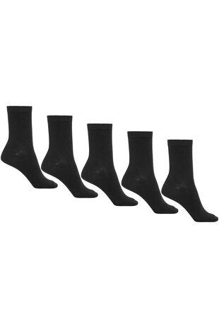 5 Pack Black Socks
