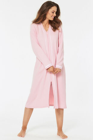 Waffle Zip Up Dressing Gown