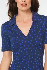 Printed Collared Midi Dress