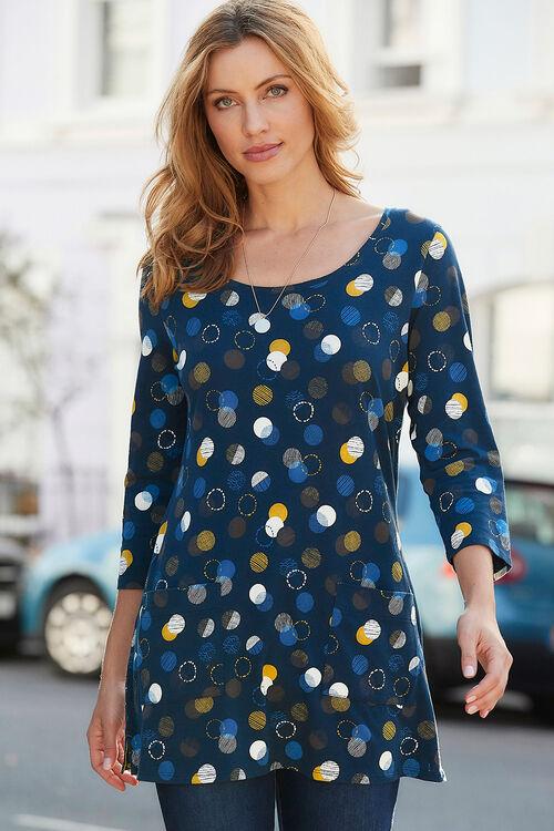 Multicolour Spot Print Tunic