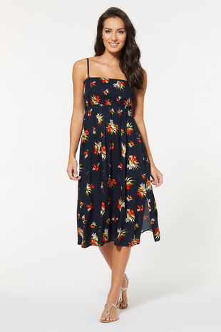 Tropical Floral Print Multiway Beach Dress